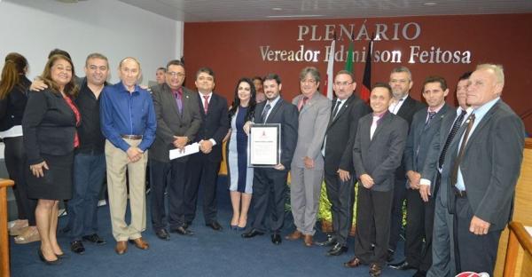 Empresário do Paraíba de Prêmios, Everton Farias recebe título de cidadão cajazeirense