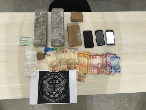 Duas mulheres foram presas na zona norte da cidade de Cajazeiras