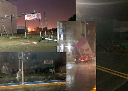 Destruição: Forte chuva causa danos e transtornos na cidade de Sousa