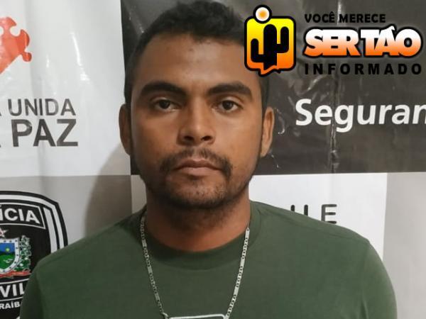 Policia Civil efetua prisão de garçom foragido da Justiça no centro de Sousa