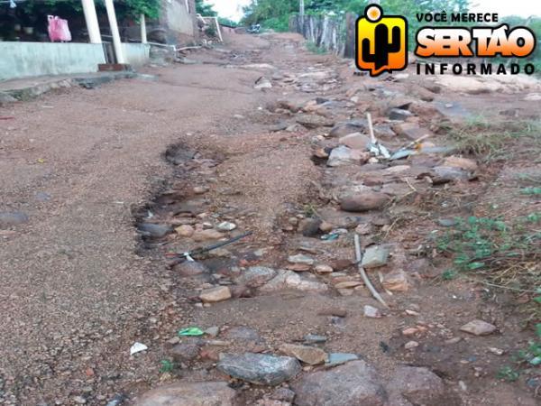 Moradores do São Gonçalo reivindicam pavimentação da rua Alta da Gruta