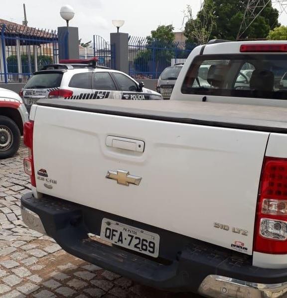 Carro roubado é recuperado em Pombal. (Foto: Assessoria).