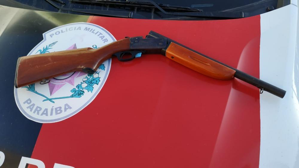 Polícia Militar apreende mais uma arma de fogo em Sousa