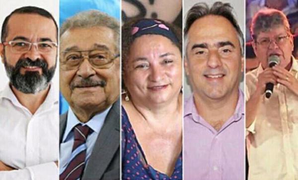Candidatos ao governo da Paraíba. (Foto: Reprodução).