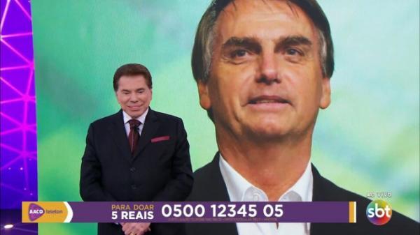 Bolsonaro Liga para Silvio Santos e faz doação Ao Vivo no Teleton